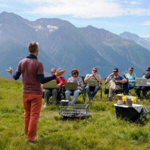 Seminar im Freien - Fotoauftrag für ein Online Marketingzentrum